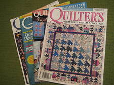 Original Vintage Lot of 4 QUILTERS Newsletter Magazines '84 '98 '02 '07