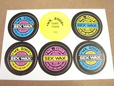 POGS MR. ZOGS SURF TEAM SEX WAX CARDED SET OF ALL 6 AWESOME