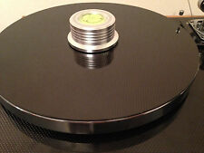 Record Turntable Mat VPI LINN Rega Thorens Lenco Project *Solid* Carbon Fibre