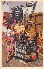 Silversmiths & Weavers Vestidos Regionales Mexico Street Vendor Postcard c1940s