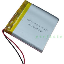 3.7V 1700 mAh Polymer rechargeable Li Lithium Cells For GPS DVD Tablet PC 605151