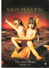 """VAN HALEN Balance UK magazine ADVERT / mini Poster 11x8"""""""