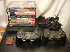 Sony playstation 2 slim w/ 2 Controllers, 10 Games, & Memory Card