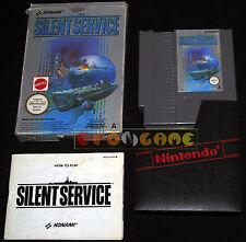 SILENT SERVICE Nintendo Nes Versione Italo/Inglese PAL A ••••• COMPLETO