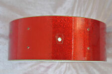 "1960's LUDWIG 14"" PIONEER RED SPARKLE SNARE SHELL for YOUR SET! LOT #T380"