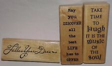 Rare Lot Set Rubber Stamps Stampabilities Inspirational Phrases Sayings Words