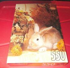 "Great 1996 Rose Art 550 Pieces Jigsaw Puzzle  Cute ""Brown Bunny"" New Sealed"
