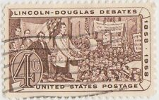 (USB98)1958 USA 4c brown addressing electorate ow1114