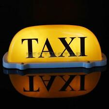 DC 12V Car Taxi METER Cab Roof Top Sign Light Lamp Magnetic MAGNET Yellow Large