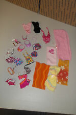 MATTEL BARBIE DOLL SWIM & BATHING SUITS TOPS BOTTOMS TOWELS SUNGLASSES 24 PIECES