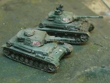 Painted Flames of War German Panzer IVF2 HQ Russia (Grey/Green Cammy)