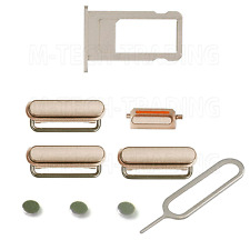 Pour iphone 6s plus gold Puissance Volume Mute Bouton simtray set & code PIN de contacts partie