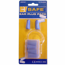 """LOOK"" 3 prs B-Safe Soft Foam Disposable Ear Plugs SNR-37db in Carry Box PPE UK"