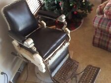 Antique BARBER CHAIR working hydraulics flip step 1901?