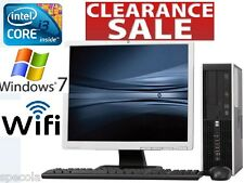"FAST HP DESKTOP PC SFF INTEL i3 CPU 320GB HDD 4GB DDR3 19"" Monitor TFT  Win 7"
