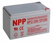 NPP 12V 12 Amp NP12 12Ah F2 AGM Rechargeable Deep Cycle Battery replaces CA12120