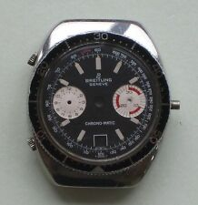 GENUINE VINTAGE BREITLING 2112 CHRONO-MATIC CASE & DIAL FOR BUREN 11 MOVEMENT