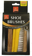 PURE BRISTLE SOFT SHOE BOOT POLISH BRUSH SET NON SCRATCH LIKE HORSE HAIR