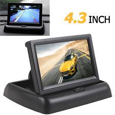 "4.3"" Fold LCD Car Monitor DVD TV Rear View Screen for Parking Sensor Camera DVD"