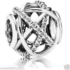 Pandora  791388 ale 925 Galaxy Clear CZ Openwork Charm Bead PA2182 Box Included