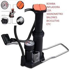 MINI-PUMP INFLATOR OF FOOT WITH PRESSURE GAUGE- WHEELS,, BALLS, ETC.