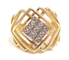 RARE ILIAS LALAOUNIS 18k YELLOW GOLD DIAMOND CRISS CROSS RING