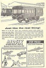 Airfix 1/600 Scale H.M.S. Hood & OO Gauge Railbus Trains Advert - Original 1961