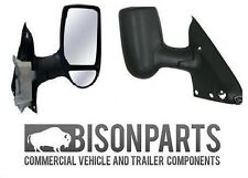 FORD TRANSIT MK6 MK7 COMPLETE WING DOOR MIRROR MANUAL OFFSIDE DRIVER SIDE TRA347