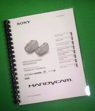COLOR PRINTED Sony Handycam XR550 XR550V Manual User Guide 127 Pages