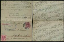 GERMANY 1914 WW1 STATIONERY LETTERCARD to ENGLAND MESSAGE in FRENCH STRASBOURG