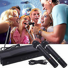Mic Wireless Dual Handheld Microphone Cordless MIC