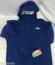 The North Face Men's Leonidas Outdoor Waterproof Hooded Blue Jacket Size M