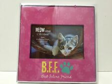 NWTIB CR Gibson Meowisms Pink 4x6 BFF Best Feline Friends Photo Frame
