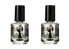 2 X Seche Vite Crystal Clear Base Coat .5oz