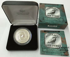 2008 Australian Subscription Silver Proof $1 coin - 1921 Kookaburra Penny