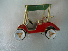 Red and Green Metal Golf Cart Collectible Golfers