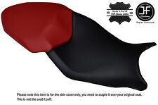 DESIGN 3 BLACK & D RED CUSTOM FITS BMW S 1000 XR 15-16 DUAL LEATHER SEAT COVER