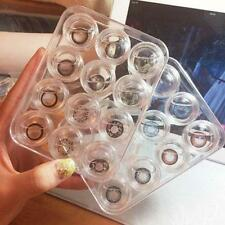 12 pcs Clear Contact Lens Case Set Travel Cleaner Washer Holder Storage Box Soft