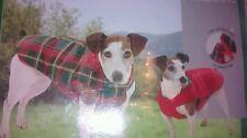 Karlie Medium Large 46cm Dog Coat Thermal Reversible Tartan Water & Wind Proof