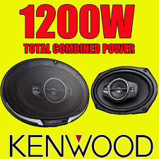 "KENWOOD 6""x9"" 6x9 1200W 4-way car rear deck oval shelf speakers, brand new pair"