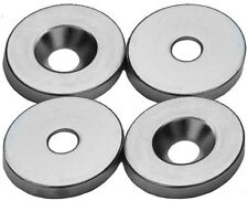 3/4 x 1/8 Inch Neodymium Rare Earth Ring Magnets with Countersink N48 (4 Pack)