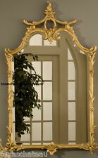 LARGE ORNATE GOLD LEAF WALL MIRROR FRENCH CHINOISERIE REGENCY ANTIQUE STYLE NEW