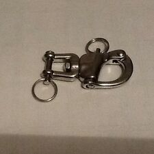 STAINLESS STEEL 70mm SWIVEL / JAW  SNAP SHACKLES