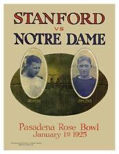 Stanford vs Notre Dame **LARGE POSTER** Vintage FOOTBALL 1925 Rose Bowl