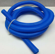 10 foot roll convoluted plastic tubing hose or wire covering Pretty Blue 3/4 ID