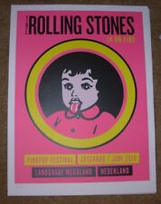 ROLLING STONES concert poster print LANDGRAAF kid 6-7-14 2014 Lithograph ON FIRE