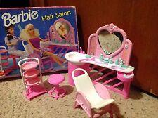 BARBIE Doll 1990 HAIR SALON Studio Beautician #7274 set Furniture Mattel w/box