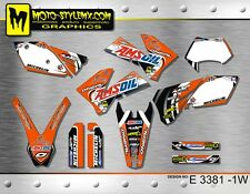 KTM EXC 125 250 450 525 2005 up to 2007 graphics decals kit Moto StyleMX