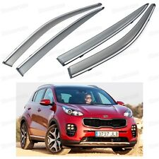 Front & Rear Car Window Visor Deflectors Vent Shade for Kia Sportage 2016-Up