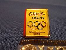 2016 Rio Olympic Media Pin Claro Sports Gold